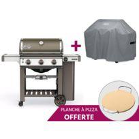 Weber - Barbecue Genesis II E-310 GBS + Pierre à Pizza + Housse