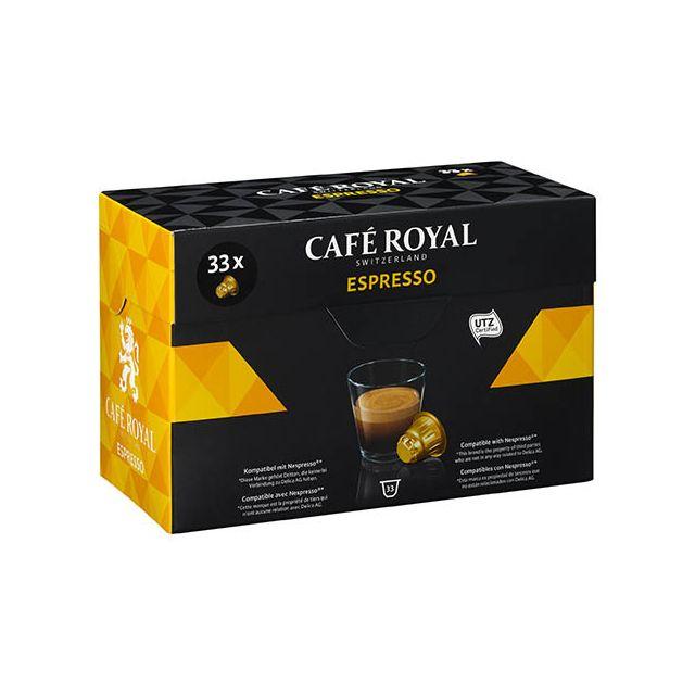 CafÉ Royal Capsules de café Espresso - Boîte de 33