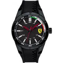 Ferrari Montres - Montre Ferrari 830301 - Montre Noire Silicone Homme