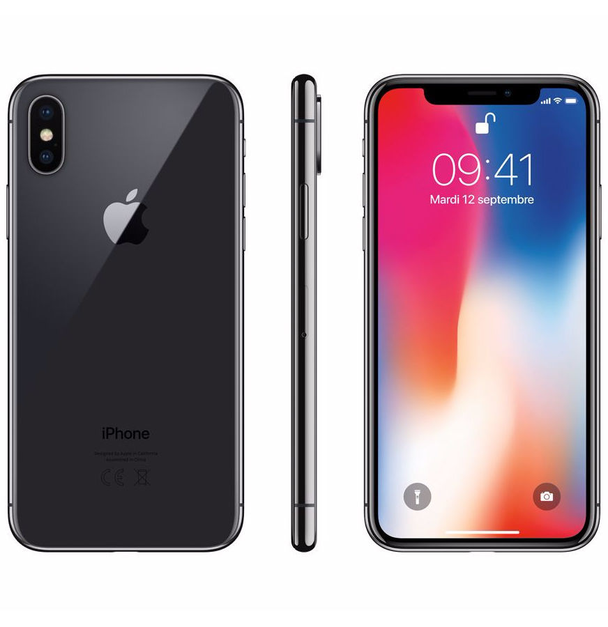 iPhone X - 64 Go - MQAC2ZD/A - Gris Sideral