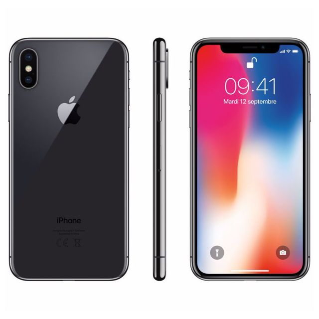 apple iphone x 256 go mqaf2zd a gris sid ral pas cher achat vente smartphone classique. Black Bedroom Furniture Sets. Home Design Ideas