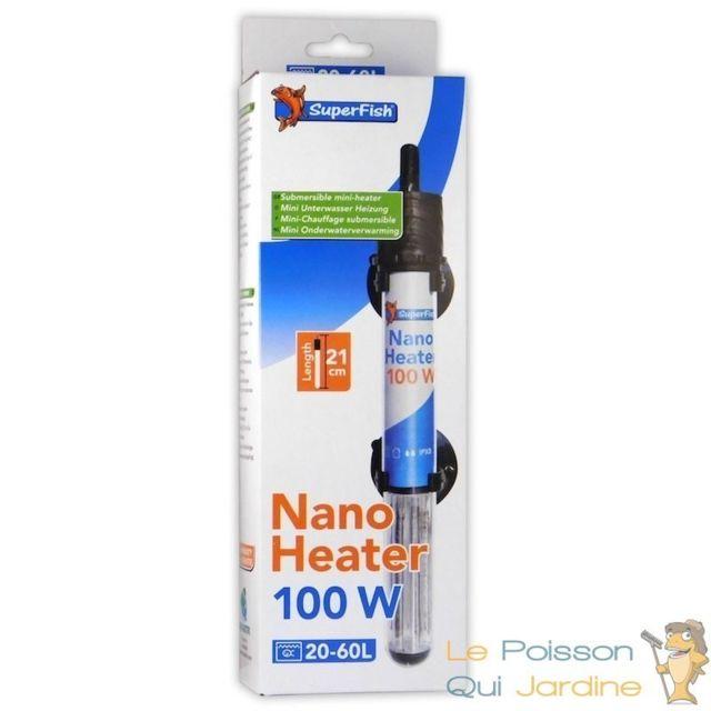 Le Poisson Qui Jardine Chauffage Thermostat 100W Pour Nanos Aquariums D'Eau Douce Ou D'Eau De Mer