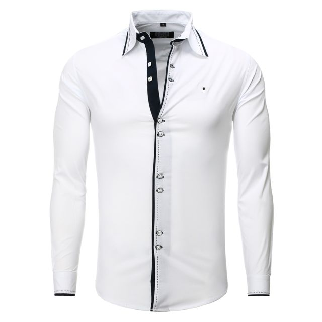 Chemise homme fashion coupe italienne cintree