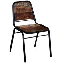 Icaverne Chaises de cuisine et de salle à manger categorie 4 chaises de salle à manger Bois recyclé 44 x 59 x 89 cm