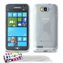 """Muzzano - Coque Souple Ultra-Slim """"Le X"""" Premium Transparent pour Samsung I8370 + 3 Films de protection ?cran"""