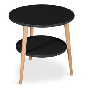 Menzzo table basse d 39 appoint scandinave tiny noir 45cm x - Table basse scandinave noire ...