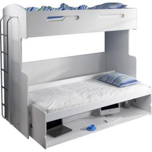 comforium lit combin superpos escamotable 90x200 avec. Black Bedroom Furniture Sets. Home Design Ideas