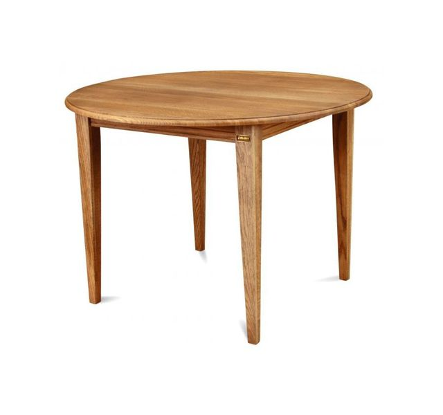 HELLIN Table ronde extensible - bois chêne massif