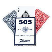 Fournier - F21644 - Jeu De Cartes - No. 505 - 2 Index Petite - Rouge/BLEU
