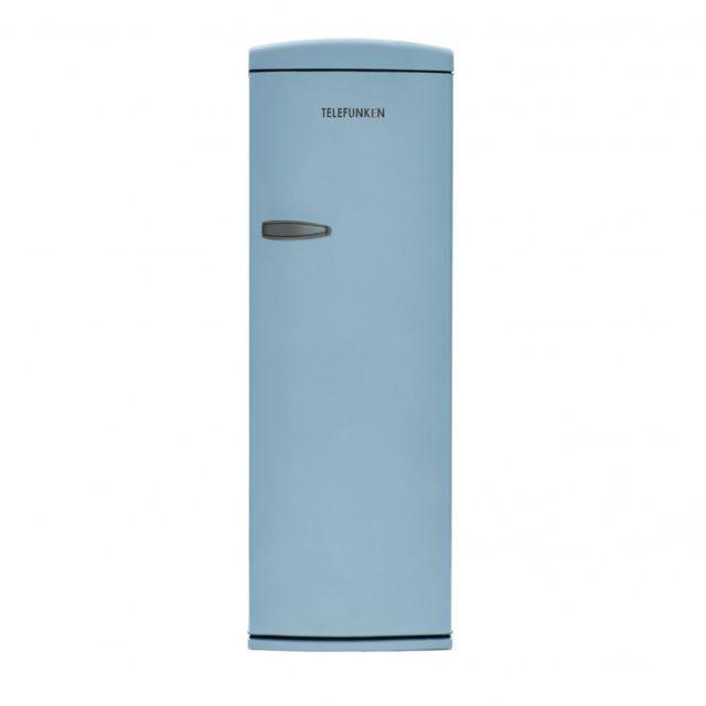 Telefunken Tfnvin311BLU Réfrigérateur 1 porte vintage Bleu 311L