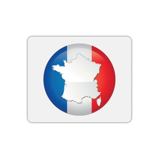 Drapeau Rond mygoodprice - tapis de souris rectangle france drapeau rond - pas
