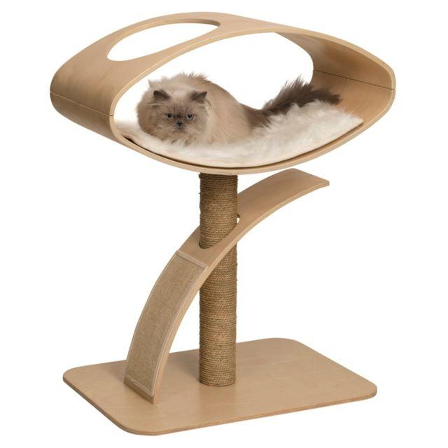 vesper arbre chat avec haut peuplier pour chat marron. Black Bedroom Furniture Sets. Home Design Ideas
