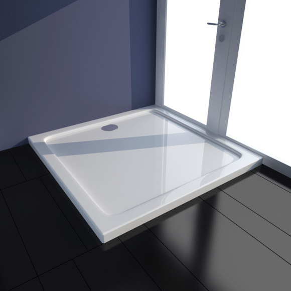 Vidaxl - Receveur de douche Abs carré blanc