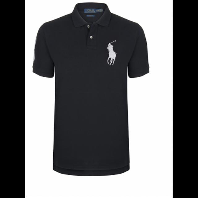 Ralph Lauren - Polo Noir Custom-fit Big Poney - pas cher Achat   Vente Polo  homme - RueDuCommerce fbedb72b5966