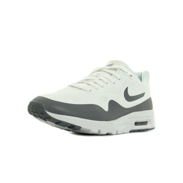 Nike - Air max 1 Ultra Moire Blanc, Gris - 38 - pas cher Achat / Vente Baskets femme - RueDuCommerce