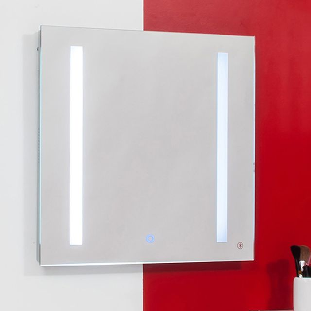 Evidence miroir lumineux bluetooth cadix 60 x 60 cm for Miroir bluetooth 120