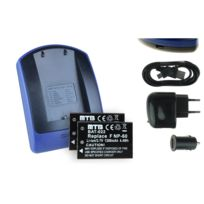 mtb more energy® - 2 Batteries + Chargeur USB, Np-60 Np60 pour Traveler Dv-5070, Dv-550HD
