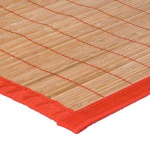 Mon Beau Tapis Tapis Bali Bamboo 160x230cm Ganse Rouge Pas Cher Achat Vente Tapis