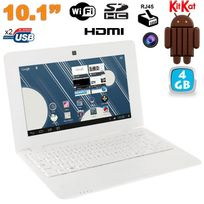 Yonis - Mini Pc Android ultra portable netbook 10 pouces WiFi 4 Go Blanc