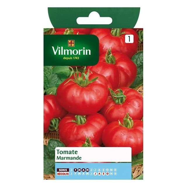 vilmorin sachet graines tomate marmande pas cher achat. Black Bedroom Furniture Sets. Home Design Ideas
