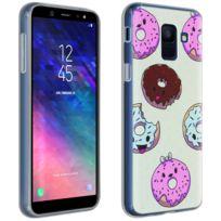 Avizar - Coque Samsung Galaxy A6 Coque Donuts Gourmand Silicone Gel Souple Transparent