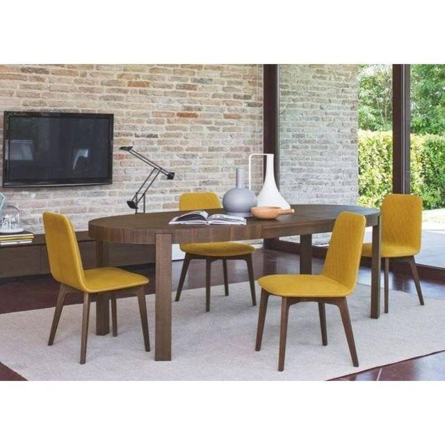 Inside 75 Table repas extensible ovale Atelier 170x100 en bois
