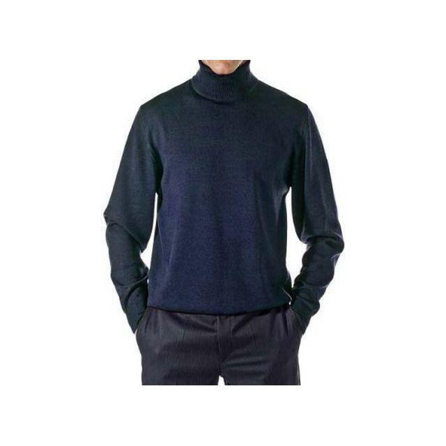 Kebello - Pull Merinos Col Roulé Bleu - pas cher Achat   Vente Pull ... 9486b234a9a2