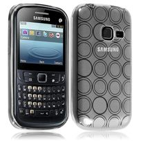 Karylax - Housse Coque Style Cercle Samsung Chat 357 S3570 Couleur Gris Translucide