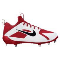 reputable site 45749 42af3 Nike - Crampons de Baseball métal Alpha Huarache Elite Low Blanc et rouge Pour  Homme Pointure