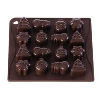 Pavoni - Moule silicone chocolat christmas