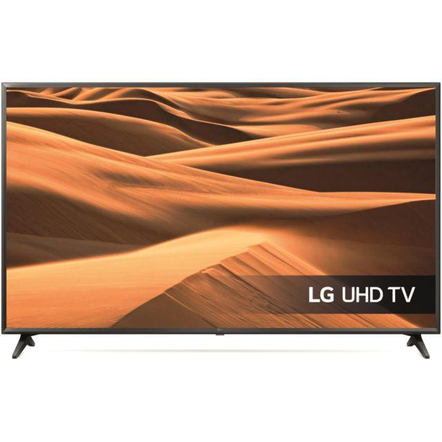 """LG TV LED 55"""" 139 cm - 55UM7000 Ecran 55"""" ( 139 cm ) - 3840 x 2160 - HDR - Smart TV - Tuner DVB-T2/C/S2 - Connectivité : Entrées HDMI ( 1 arrière/2 côté ), port USB ( 1 arrière/1 côté ), port CI+ 1.5, Prise antenne x 2 ( Arrière, RF/SAT ), sorti"""