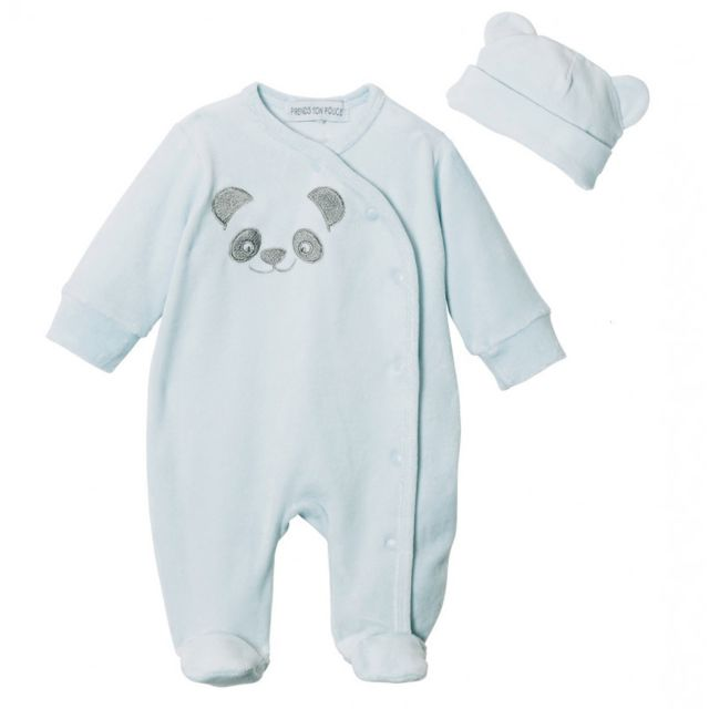 PRENDS TON POUCE Pyjama b/éb/é Velours Loulou
