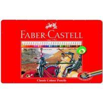 Faber-Castell - Boîte Métal 36 Crayons de Couleur