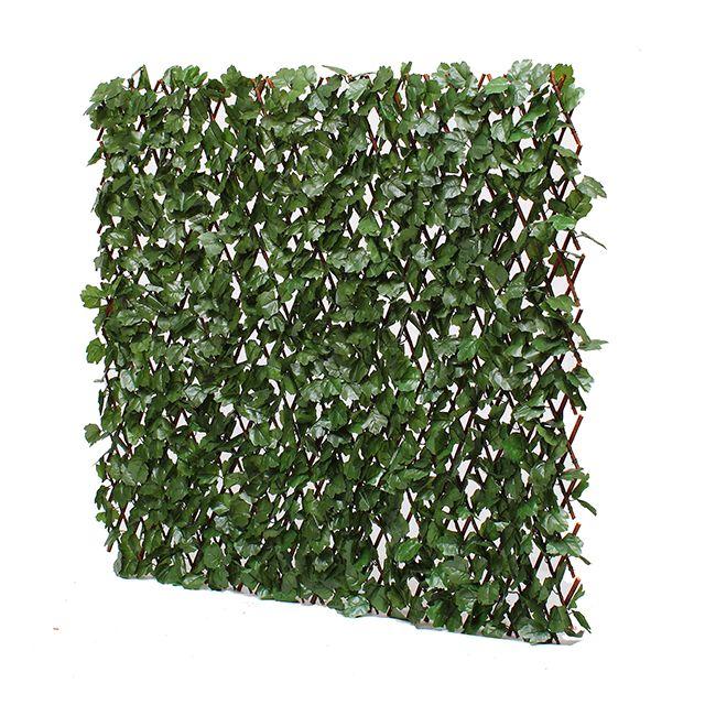 jardin artificiel treillis extensible en bois de saule feuillage artificiel lierre fonc pas. Black Bedroom Furniture Sets. Home Design Ideas