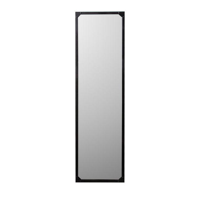 dlm miroir industriel rectangulaire en m tal noir teke. Black Bedroom Furniture Sets. Home Design Ideas