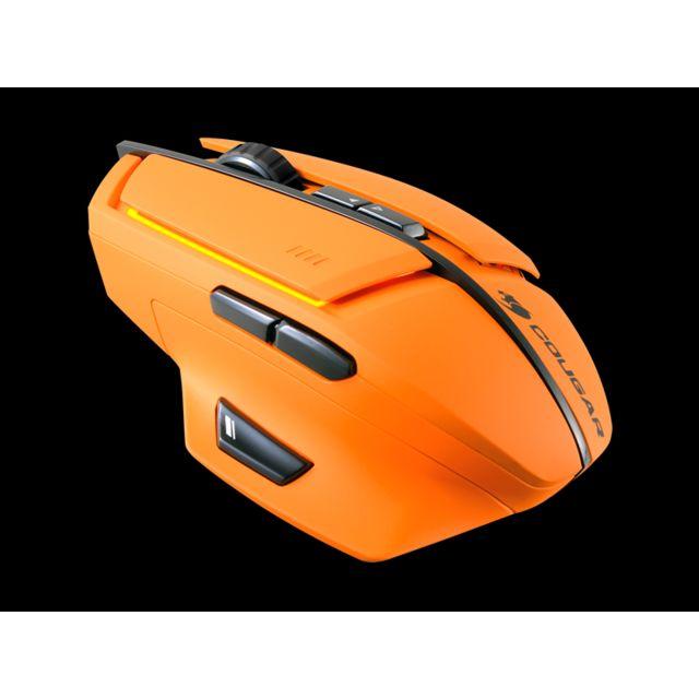 COUGAR Souris 600M Laser Gaming orange Capteur optique haute performance pour la précision de commande de curseur