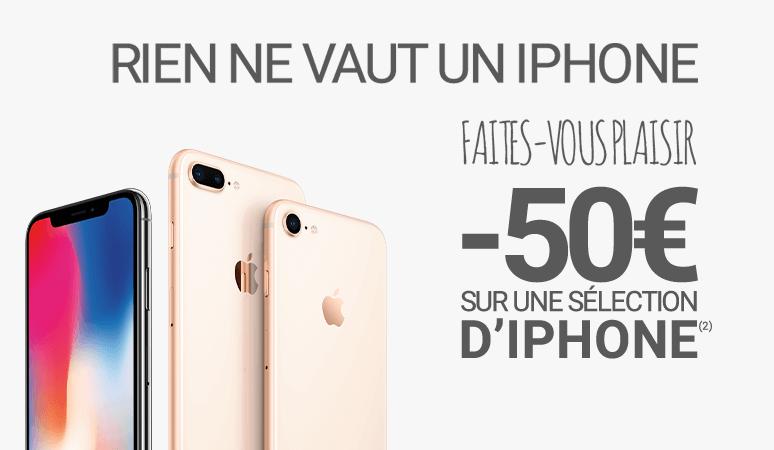 -50€ sur une sélection d'iPhone