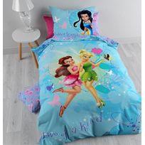 Cti - Parure de lit Fée Clochette 100% coton Disney