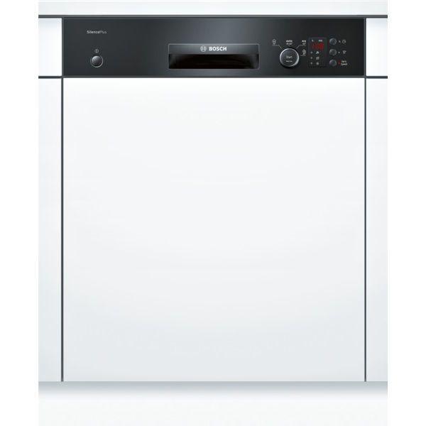 Bosch lave-vaisselle 60cm 12 couverts a+ intégrable avec bandeau apparent noir - smi40d16eu