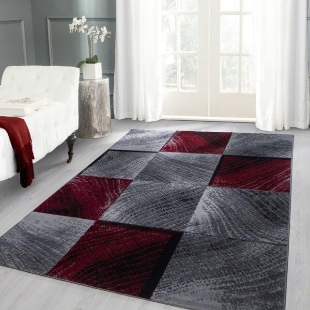 Ayyildiz Tapis Tapis moderne designe Plus 8003 Rouge D