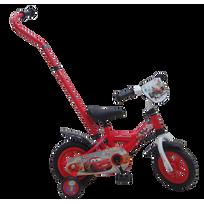 """CARS - Vélo enfant avec canne directionnelle - 10"""" - CARS1002JCA"""