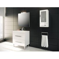 Mennza - Granada Meuble de salle de bain blanc 80 cm + vasque