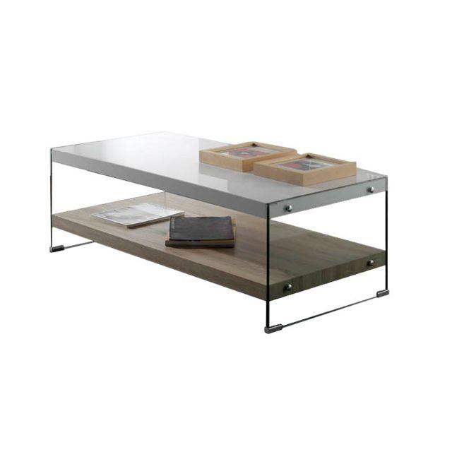 Tousmesmeubles Table basse - Libro