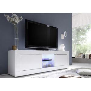 envie de meubles meuble tv laqu blanc tika 181 cm pas. Black Bedroom Furniture Sets. Home Design Ideas