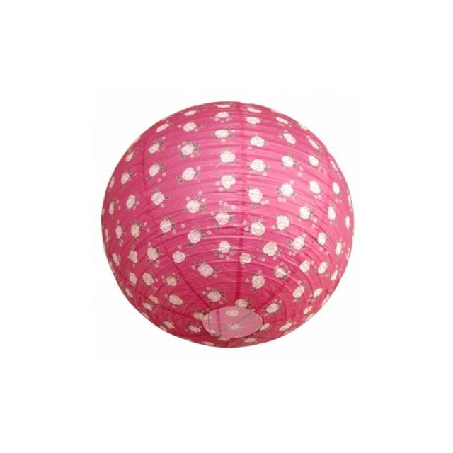 ouvre&deco . Luminaire et susp Suspension boule japonaise Décoration Pink Light