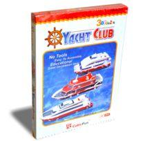 Cubicfun - Puzzle 3D 41 pièces : Yacht Club