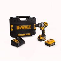 Dewalt - Perceuse visseuse à percussion - Avec 2 batteries 18V 5.0Ah, chargeur, coffret de transport - DCD996P2