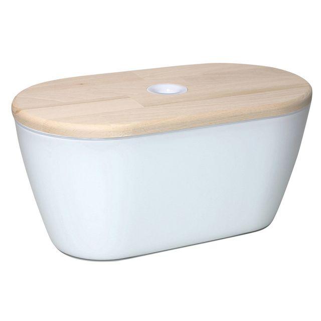 Marque Generique Boîte à pain avec couvercle + planche à découper Omada - Blanc