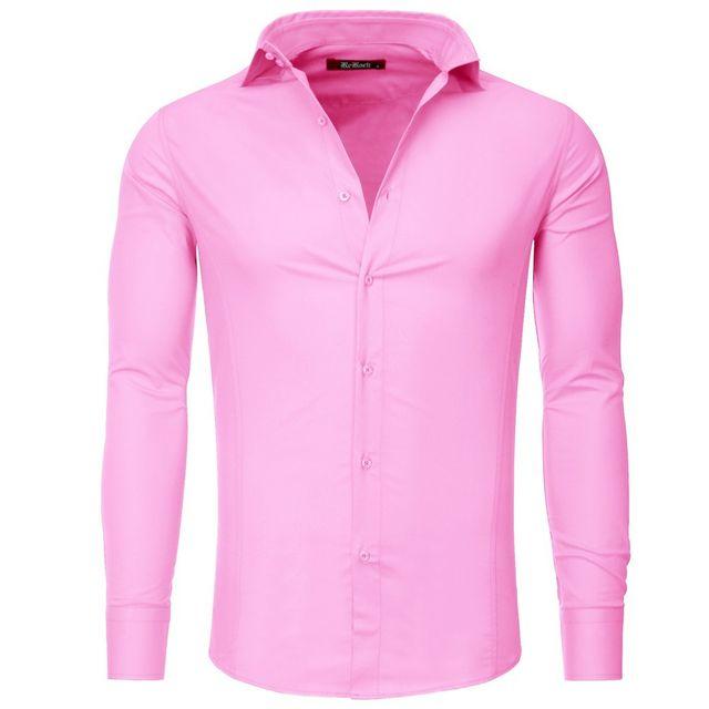 la meilleure attitude produits chauds vente usa en ligne Chemise pour homme slimfit Chemise 336 rose clair