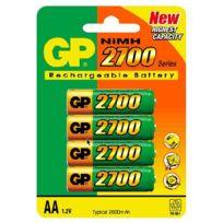Gp Batteries - Gp Blister de 4 piles rechargeables Aa NiMH 2700 mAh